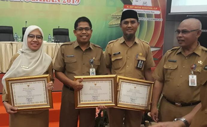 BPKAD Provinsi Riau Raih Penghargaan TLHP dari Inspektorat Daerah