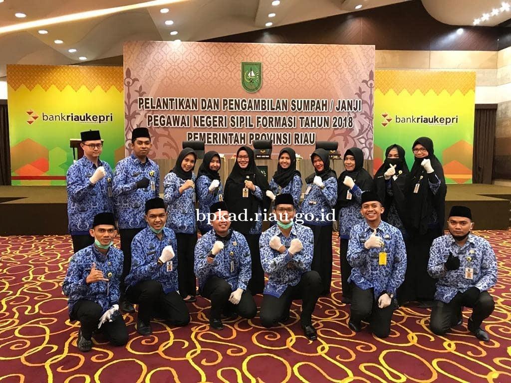 Pelantikan dan Pengambilan Sumpah/Janji Pegawai Negeri Sipil Formasi Tahun 2018 Pemerintah Provinsi Riau