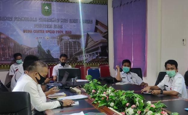 Rapat pembahasan pergeseran anggaran dan rasionalisasi belanja BPKAD 2021